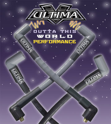 Ultima Blue High Performance Spark Plug Wires for Ultima and Custom Coil Covers